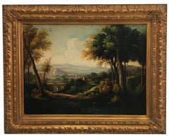 LANDSCAPE - Italian oil on canvas painting, Luigi De Santis
