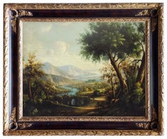 LANDSCAPE - Italian oil on canvas painting, Luigi De Santis
