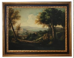 LANDSCAPE - French School -Italian Oil on Canvas Painting