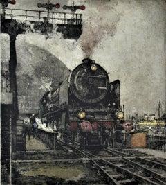 Henschel Kassel, Locomotive, large color etching