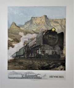 Henschel Locomotive, large color etching
