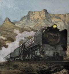 Henschel Locomotive, large color etching