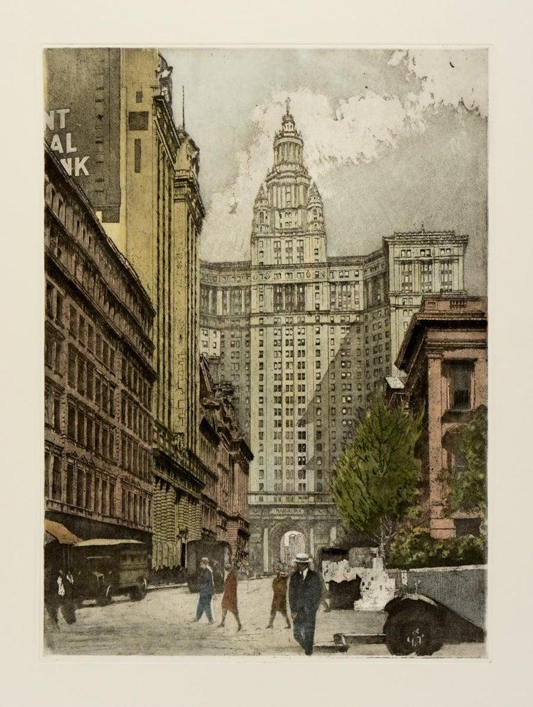 New York, New York City - Beige Print by Luigi Kasimir