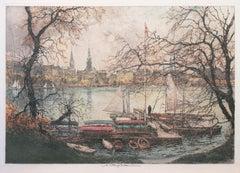 'On the Lake', Vienna Academy of Art, Metropolitan Museum, Smithsonian