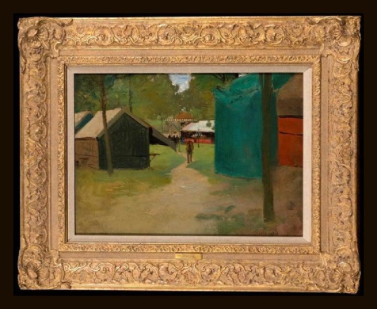 Luigi Loir Landscape Painting - Figures in a Park