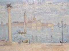 Oil Painting by Luigi Losito. View of Venice, Italy.