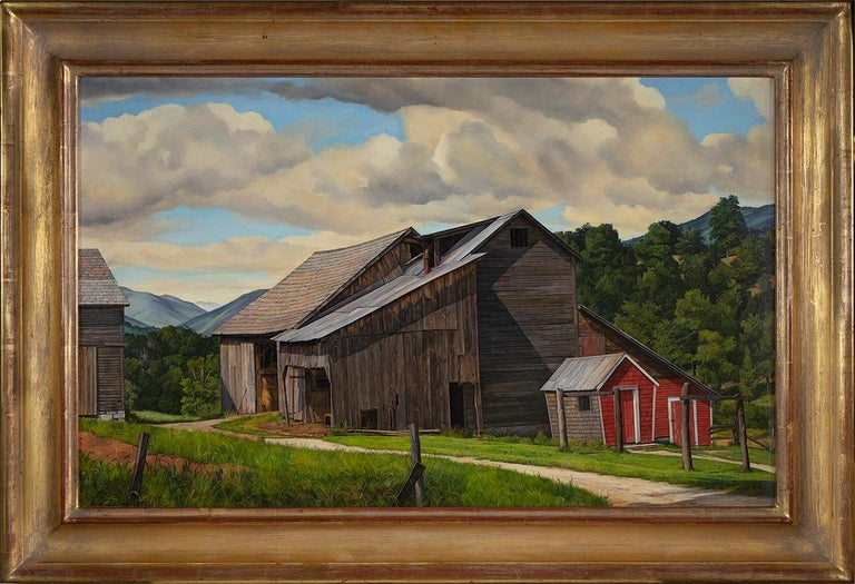 The Weathered Barn - Painting by Luigi Lucioni