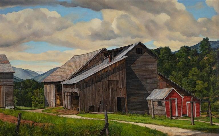 Luigi Lucioni Landscape Painting - The Weathered Barn