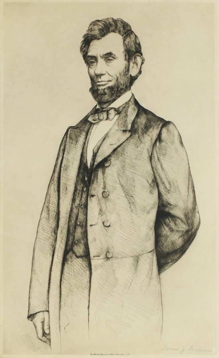 Portrait of Abraham Lincoln - Print by Luigi Lucioni