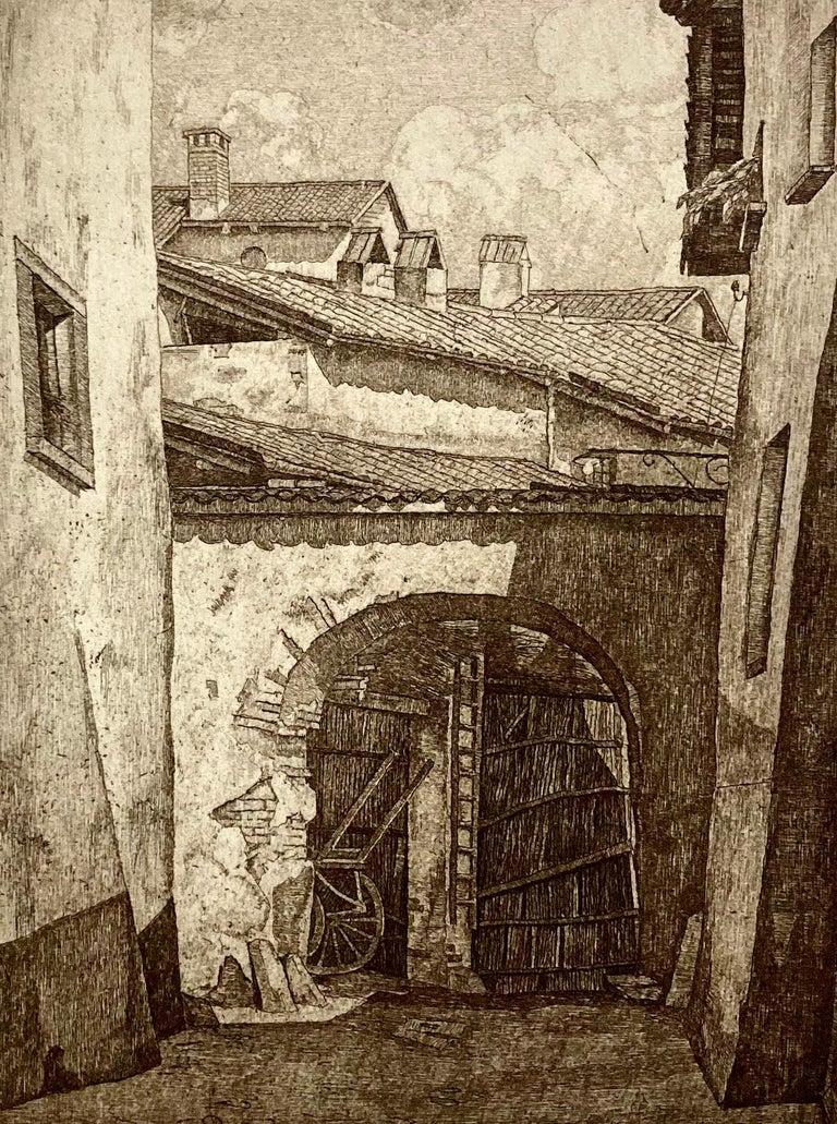 Shadows in Lombardy - Print by Luigi Lucioni