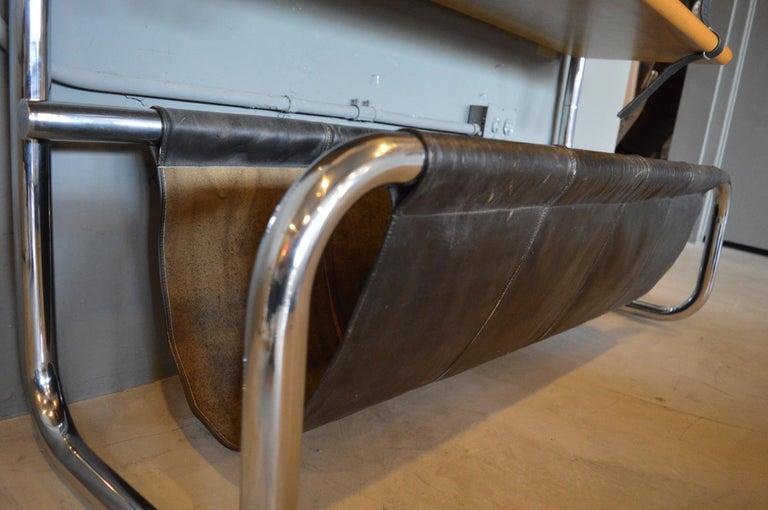 Steel Luigi Massoni Leather and Oak