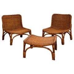 Luigi Massoni Lounge Chairs and Ottoman