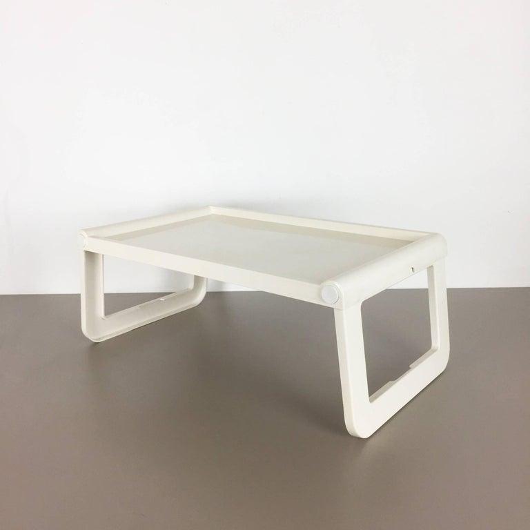 Luigi Massoni Minimalist Plastic White Bed Tray Element by Guzzini, Italy, 1980s For Sale 7
