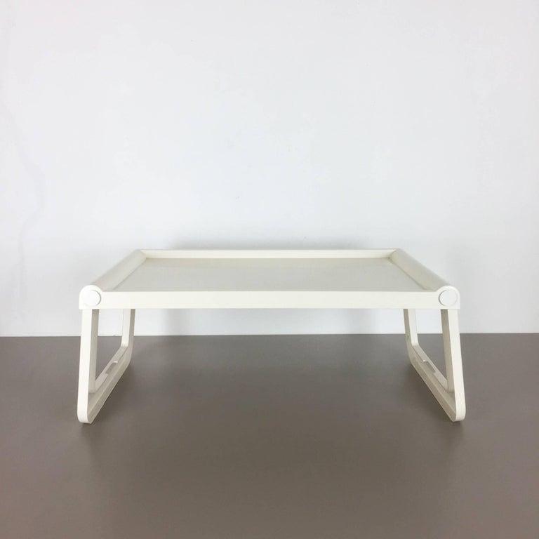 Luigi Massoni Minimalist Plastic White Bed Tray Element by Guzzini, Italy, 1980s For Sale 8