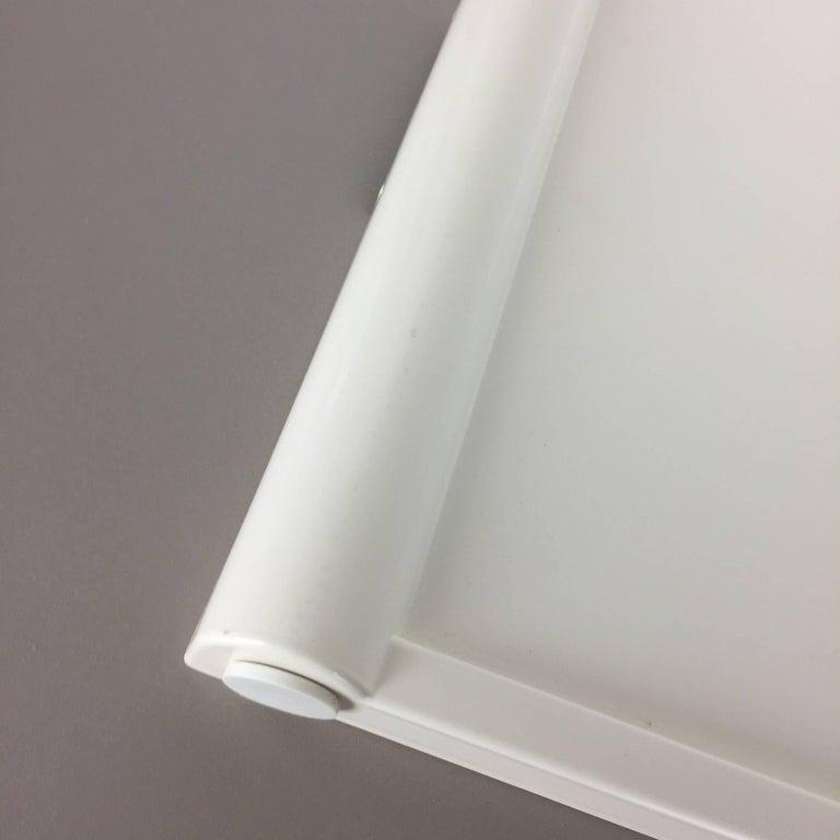 20th Century Luigi Massoni Minimalist Plastic White Bed Tray Element by Guzzini, Italy, 1980s For Sale