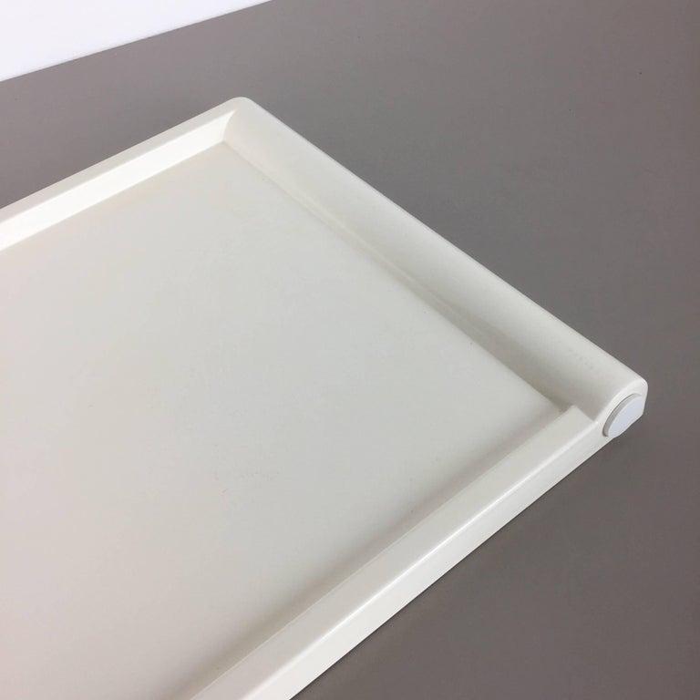 Luigi Massoni Minimalist Plastic White Bed Tray Element by Guzzini, Italy, 1980s For Sale 1