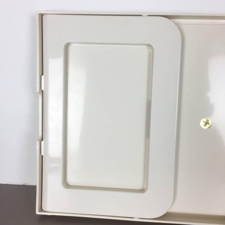 Luigi Massoni Minimalist Plastic White Bed Tray Element by Guzzini, Italy, 1980s For Sale 2