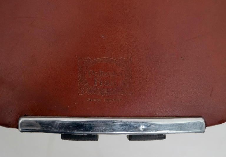 Luigi Massoni Modern Italian Real Leather Armchairs for Poltrona Frau, Pair For Sale 6
