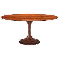 Luigi Massoni Oval Rosewood Dining Table