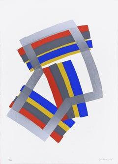 Silver Composition - Original Screen Print by Luigi Montanarini - 1970s