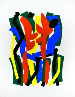 Untitled - Original Screen Print by Luigi Montanarini - 1970s
