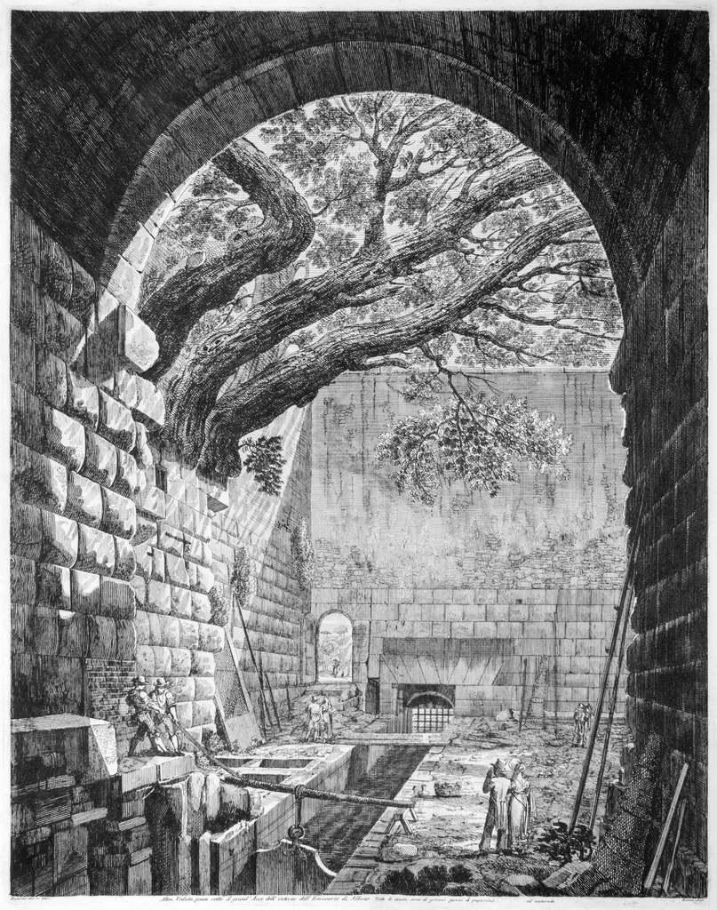 Altra Veduta presa sotto... - Original Etching by Luigi Rossini - 1825