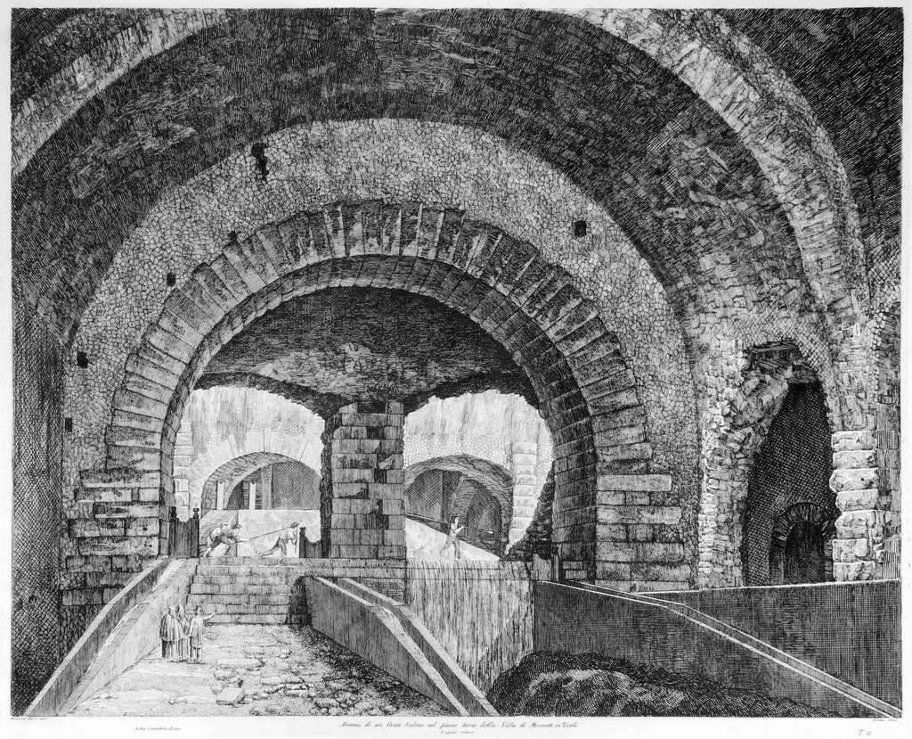 Avanzi di un Gran Salone nel piano terra della Villa di Mecenate in Tivoli