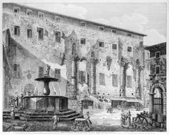Piazza di Palestrina costruita sulle rovine del famoso Tempio della Fortuna...
