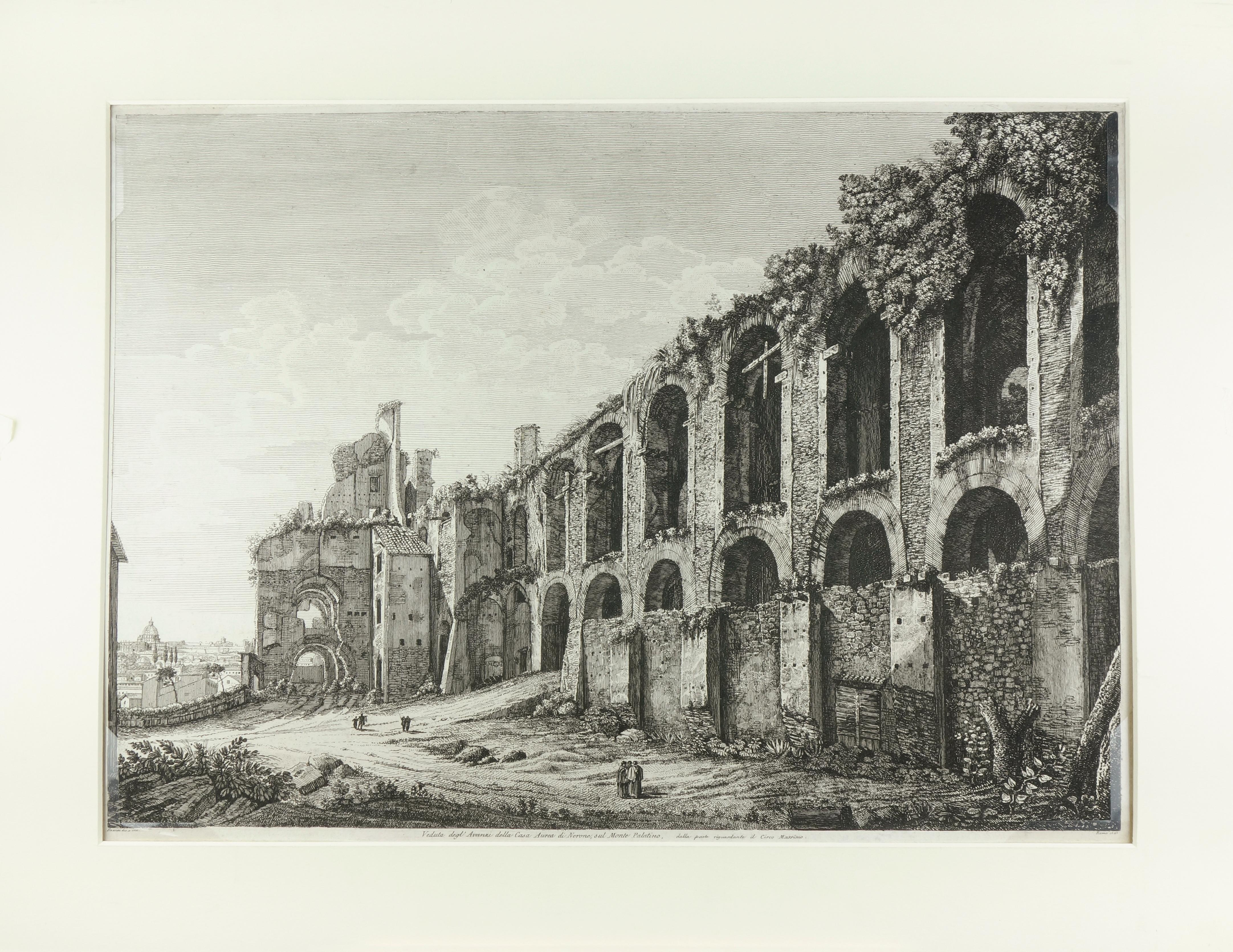 Ruins of the Golden House of Nero, on Monte Palatino, Rome