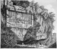 Sepolcro Regio o Consolare (...) - Original Etching by Luigi Rossini - 1825