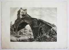 """Seven Rossini Prints From the Serie """"Le antichità de' contorni di Roma"""""""