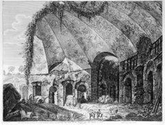 Tempio detto Canopo del Dio Serapide.... - Etching by Luigi Rossini - 1824