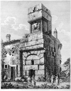 Veduta degl'Avanzi del Maestoso Ingresso della Villa d'Adriano