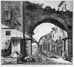 Veduta di Tivoli mista d'Antico,e moderno (...) - Etching by L. Rossini - 1824