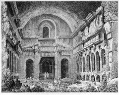 Veduta di un Tempio Antico... - Original Etching by Luigi Rossini - 1826