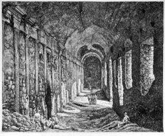 Veduta interna delle Sostruzioni ... - Original Etching by Luigi Rossini - 1824