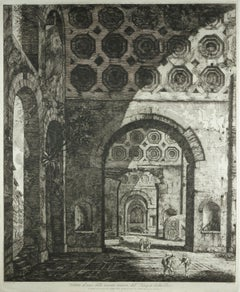 View of One of the Minor Naves of the Temple of Peace, Rome