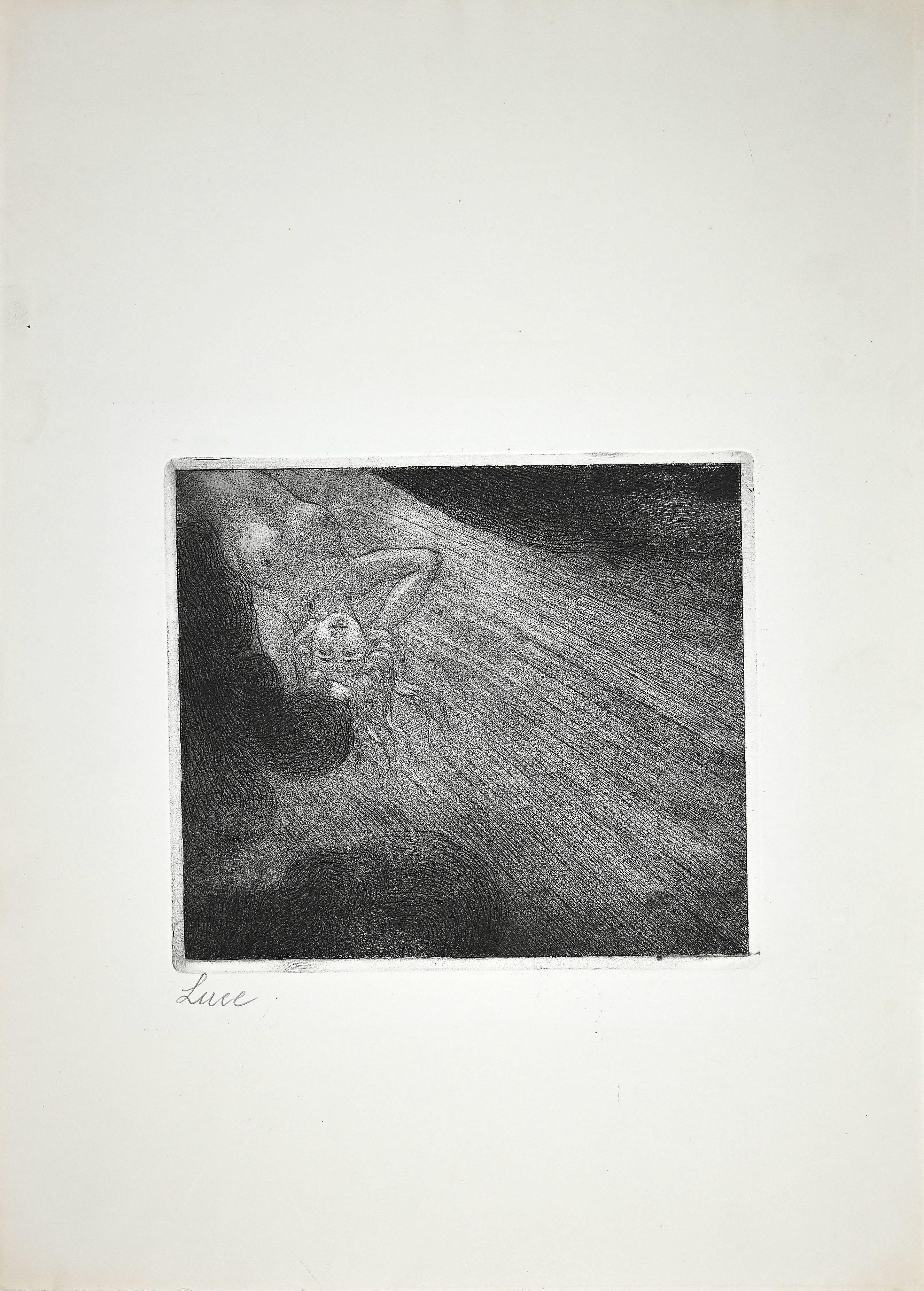 Luce - Original Etching by Luigi Russolo - Early 20th Century