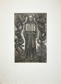 Medioevo (Middle Ages) - Original Etching by Luigi Russolo - 1908/1909