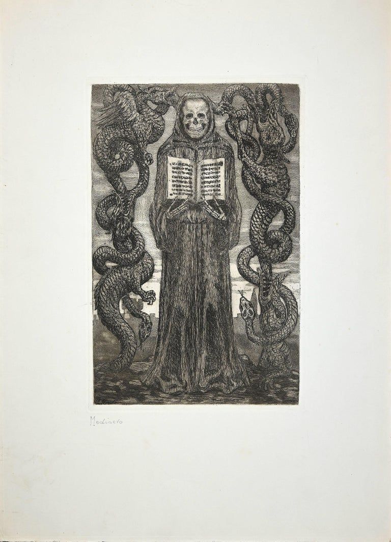 Hand titled. Unsigned artist's proof.  Image Dimensions: 30 x 19 cm  Luigi Russolo (1885-1947), was an italian futurist painter, engraver and musician. He painted irregularly for his entire life. This rare etching, that can be dated between 1908 and