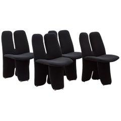 Luigi Saccardo Upholstered Chairs Arrmet, Italy 1970