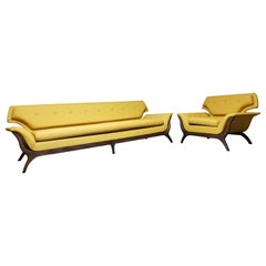 Luigi Tiengo Attributed Sofa and Chair
