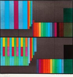 Abstract Composition  - Original Lithograph by Luigi Veronesi - 1970s