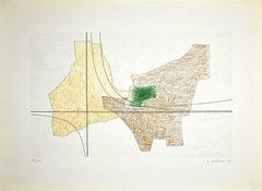 Structure 6 - Original Lithograph by Luigi Veronesi - 1966