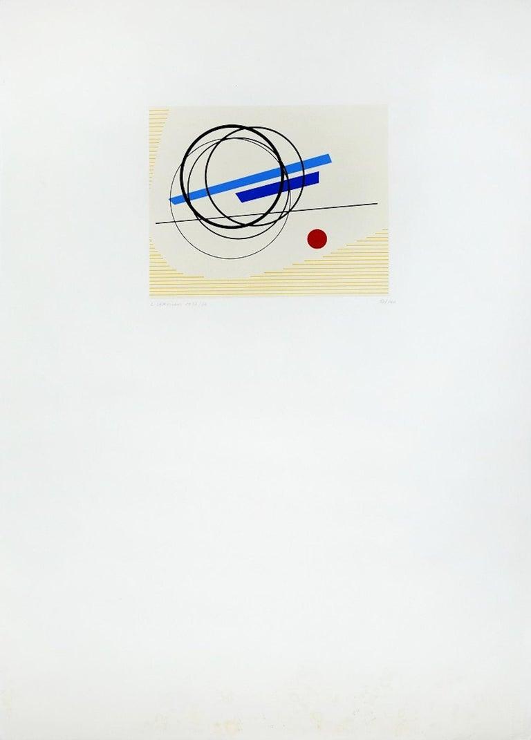 Untitled - Original Screen Print by Luigi Veronesi - 1976 For Sale 1