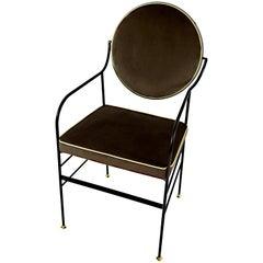 Luigina Black Bear in Velvet Chair Made in Italy