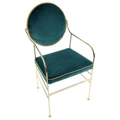 Luigina Gold and Peacock Blue Chair by Sotow