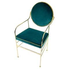 Luigina Gold Peacock Chair in Velvet Made in Italy