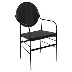 In Stock in Los Angeles, Velvet Dining Chair Black, by Paolo Calcagni