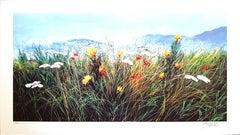 Wildflowers - Original Screen Print by L. Rossi Garzione